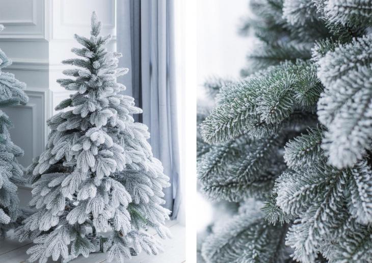 Как сделать заснеженную ёлку домашний досуг,новогодний декор,сделай сам