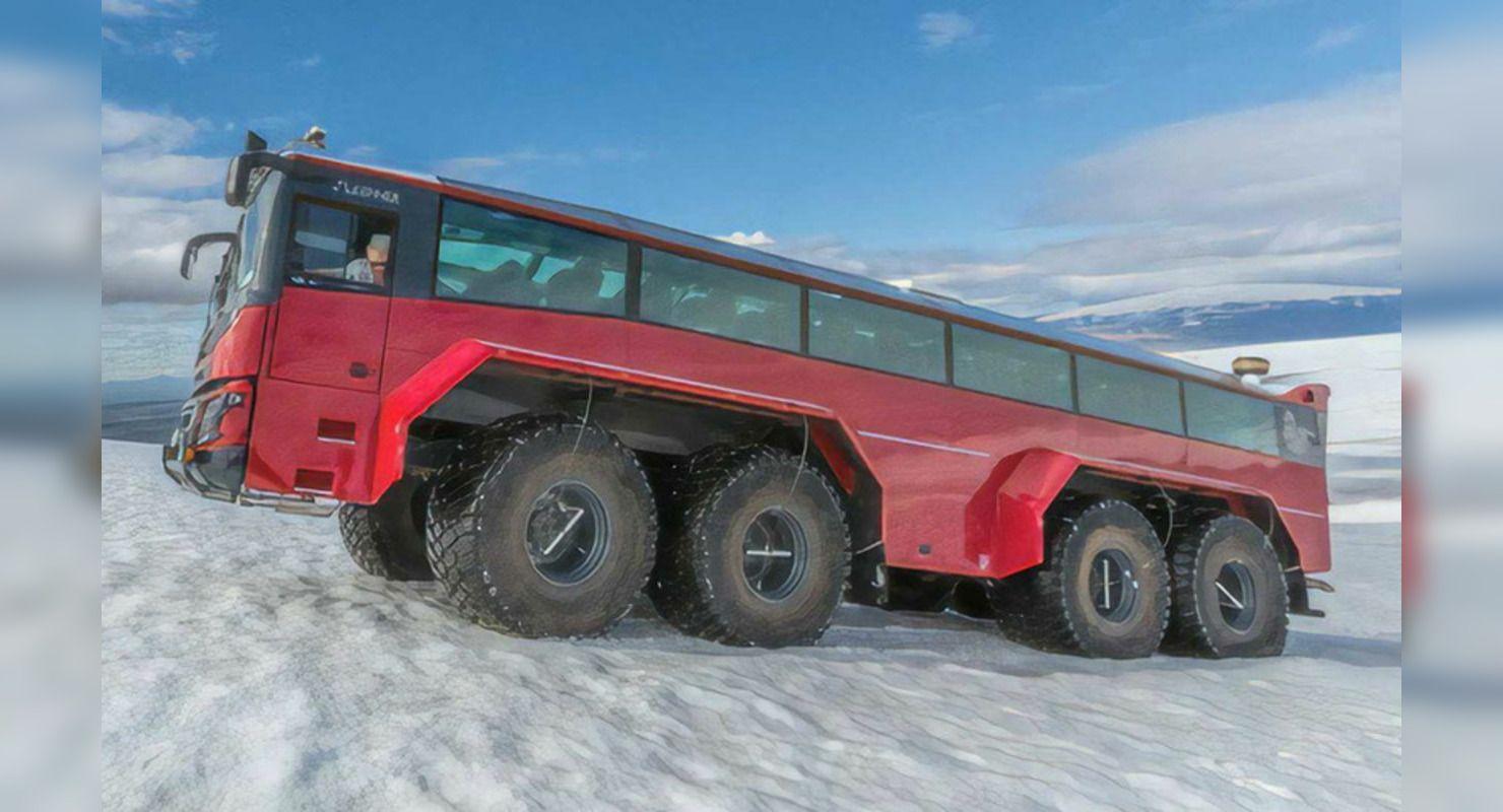 Внедорожный автобус Слейпнир предназначен для покорения ледников Автомобили