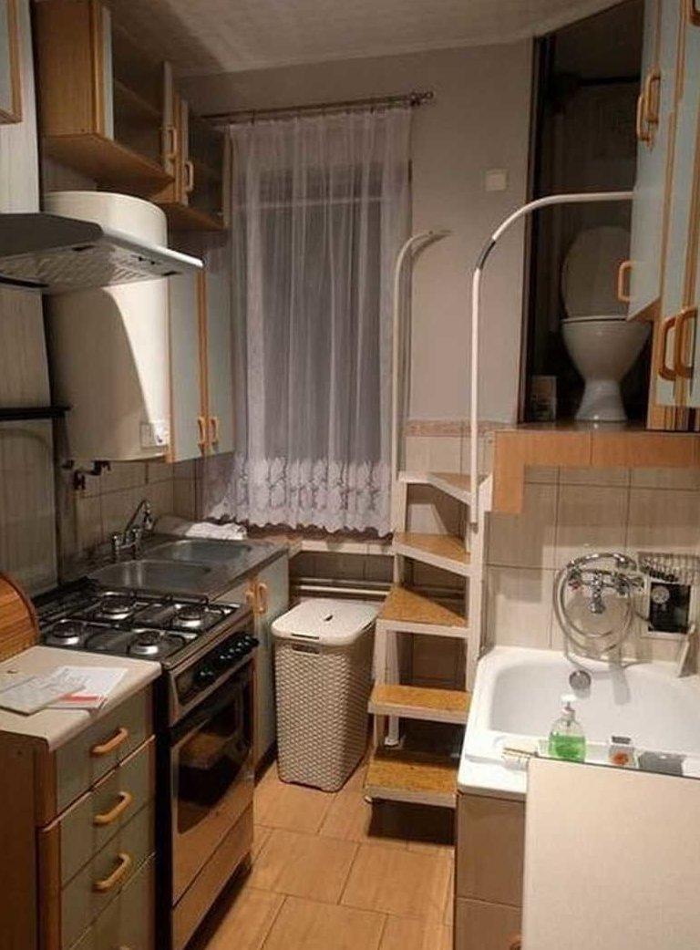 Найди унитаз у польского студента в тесноте, квартир, квартиры, малогабаритка, малогабаритки, студия, тесно