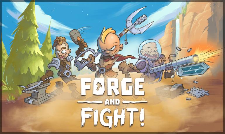 Forge and Fight! – боевая арена с инженерами-гладиаторами и безумным оружием action,adventures,arcade,fantasy,mmorpg,pc,ps,xbox,Аркады,Игры,Приключения,Фентези