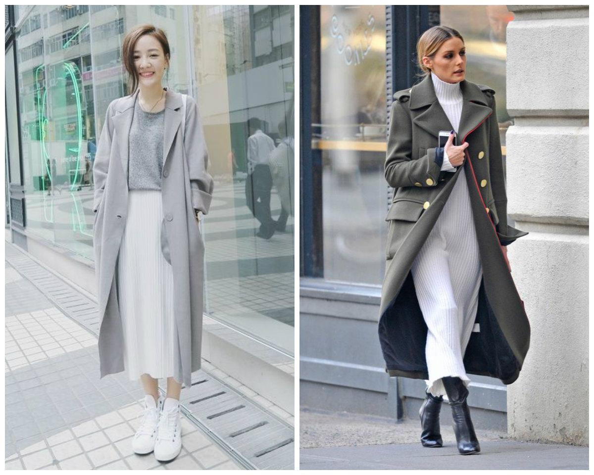белый цвет и теплая одежда