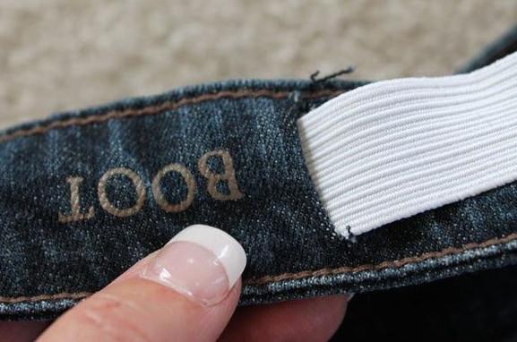 Как просто и легко ушить джинсы в поясе...