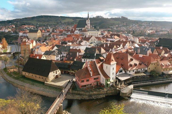 Сказочный город Крумлов в Чешской Республике