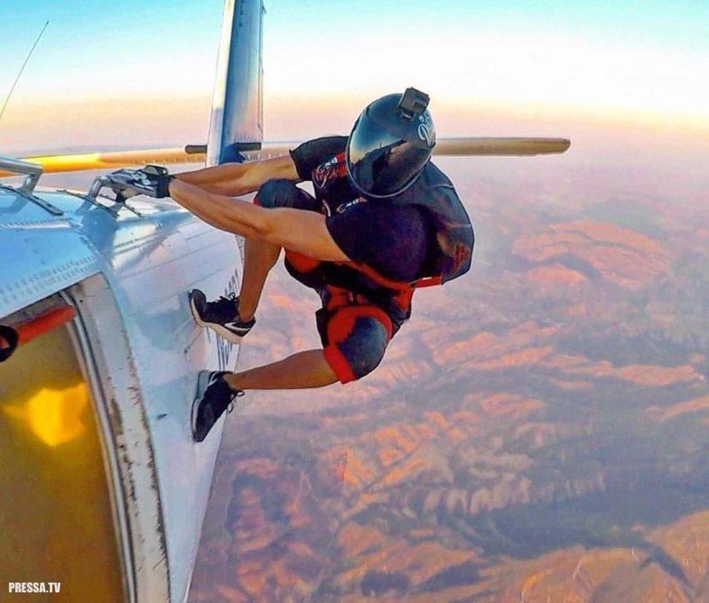Смешные картинки прыжок с парашютом