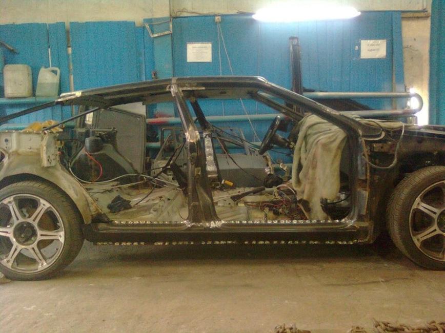 Круто или «колхоз»? Необычный проект из ВАЗ-2109 в стиле «Волгоградский Бэтмобиль» авто и мото,тюнинг
