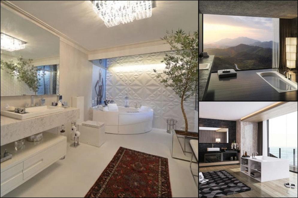 """С камином, балконом, в """"лесу"""". Топ-16 ванных комнат богатеев, в которых можно просто жить"""