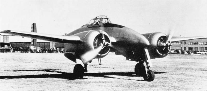 Опытный истребитель Grumman XP-50 Skyrocket
