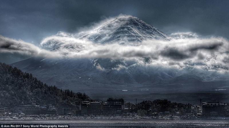 Когда хмурится гора Фудзи искусство, конкурс, красота, фото