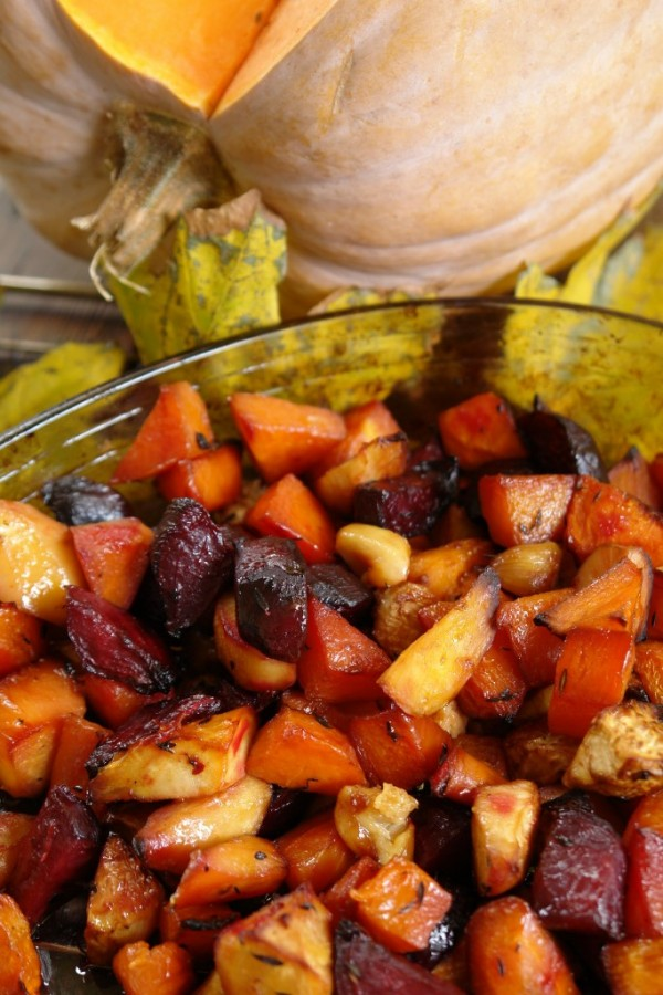 Овощи под медовым маринадом, запечённые в духовке