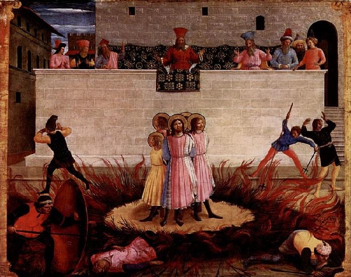 «Мученичество св. Косьмы и Дамиана — одна из пыток, испытанных братьями».