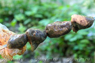 Шашлык из сердечек индейки, Шаг 06
