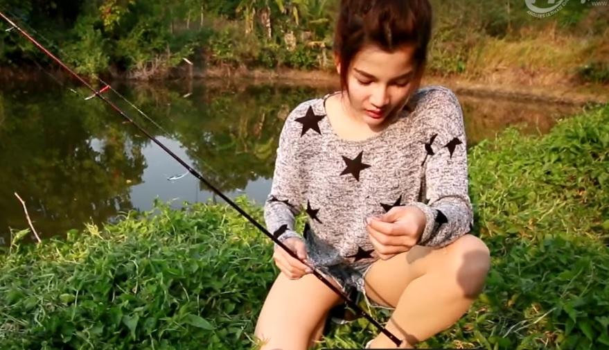 Мастер класс от Тайской девушки! Вот это рыбалка...