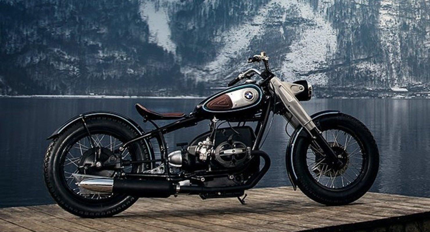 Cтарый мотоцикл 1950 года выпуска превратили в стильный и шустрый боббер Автомобили