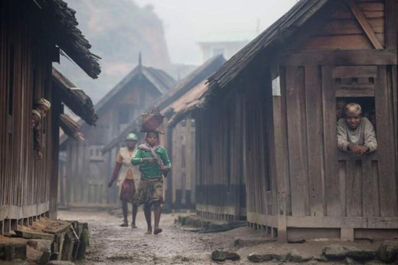 Колоритная жизнь мадагаскарской деревеньки на фото Африка,люди,Мадагаскар