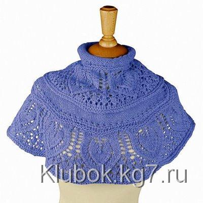 Шаль-фишю с листиками-листочками из Junghans-Wolle