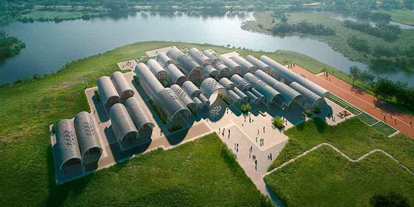 В Китае роботы построят школу