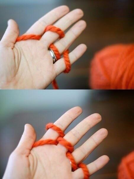 Вязание на руках вязание на руках,рукоделие,своими руками