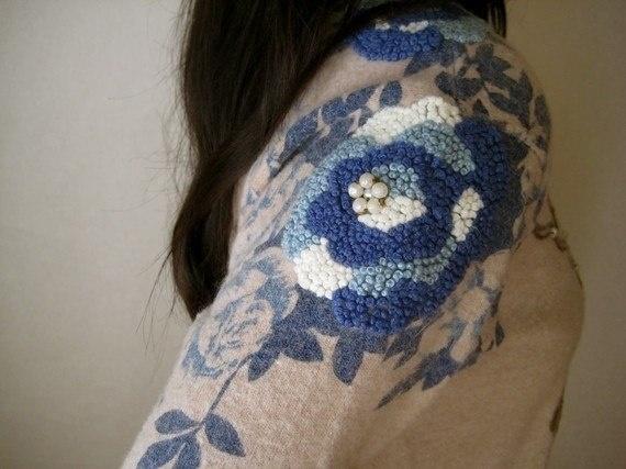Симпатичные идеи, которые вам понравятся: узелковая вышивка на одежде и аксессуарах вышивка,женские хобби,умелые руки