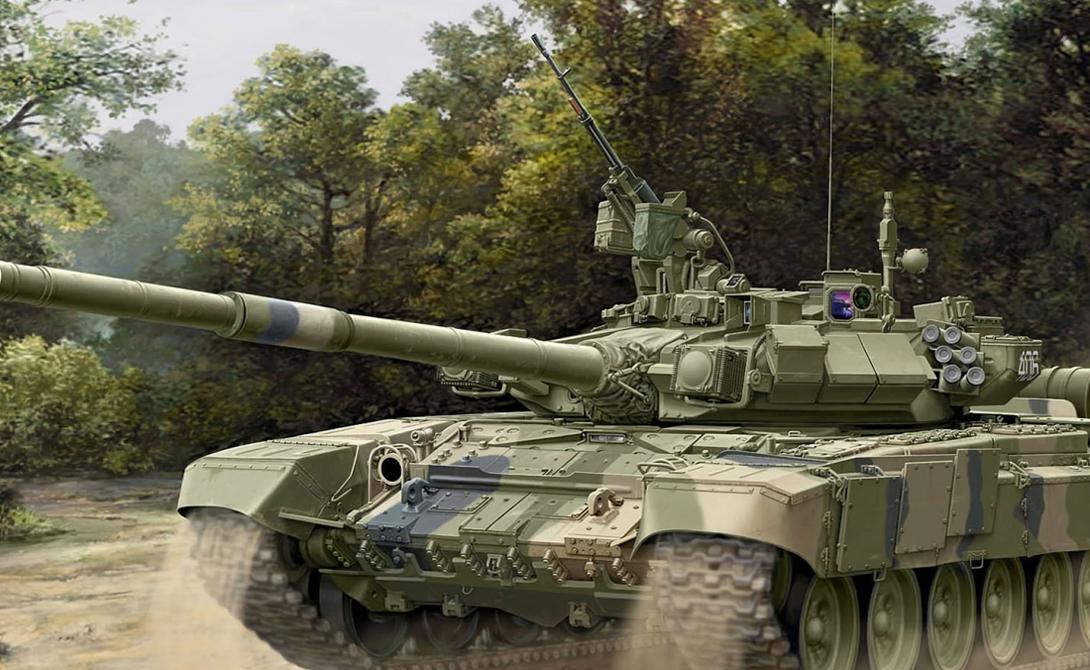 Танк Т-90 Конструкция Т-90 считается новой, но по сути она представляет собой глубокую модернизацию советского танка Т-72. Уже сейчас на вооружении российской армии стоит почти тысяча Т-90, хорошо зарекомендовавшего себя благодаря сочетанию современного вооружения, оптики и сравнительно невысокой (по сравнению с западными аналогами) стоимостью.