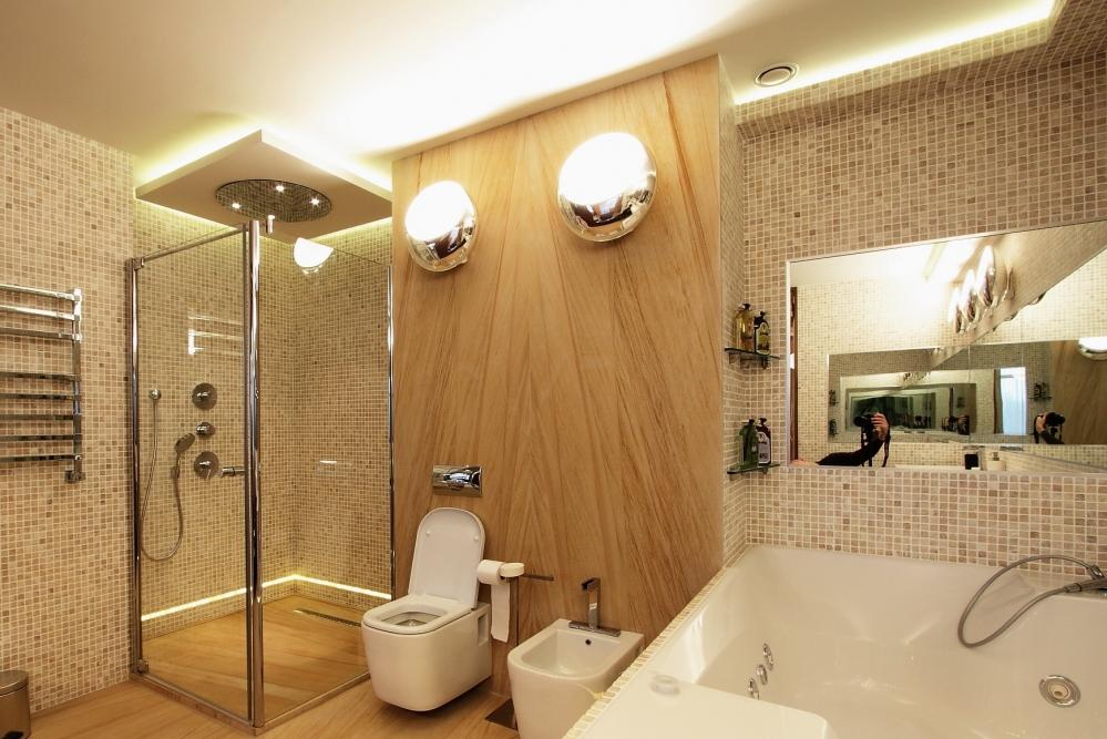 Освещение в ванной - подсветка и бра