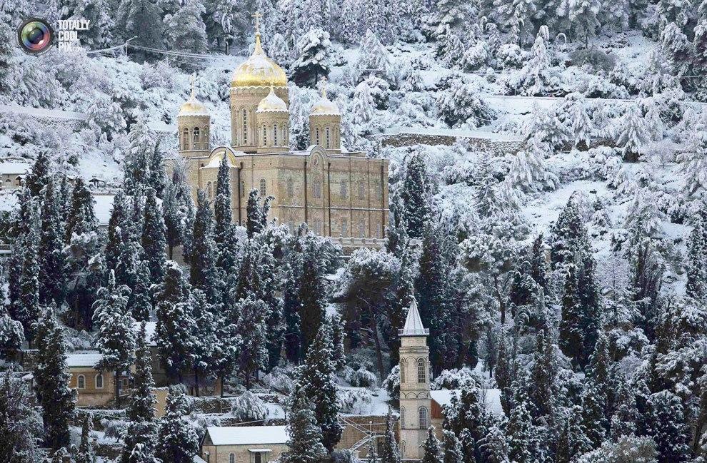Прогулка по заснеженному Иерусалиму