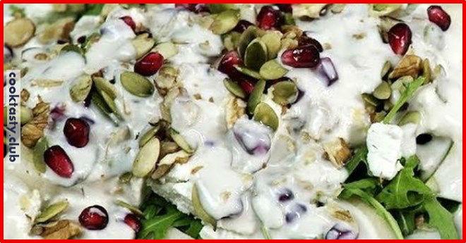 Салат с грушей и сыром без майонеза