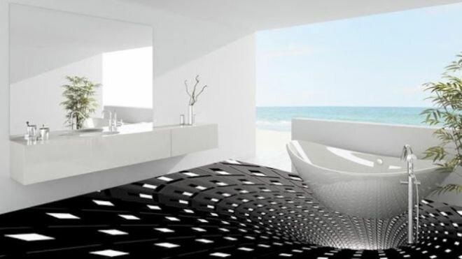 Удивительные 3D полы, через которые, вы захотите перепрыгнуть идеи для дома,интерьер,полы