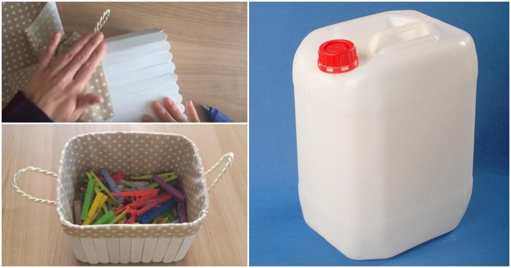 Практичная корзина для тысячи мелочей из простой канистры