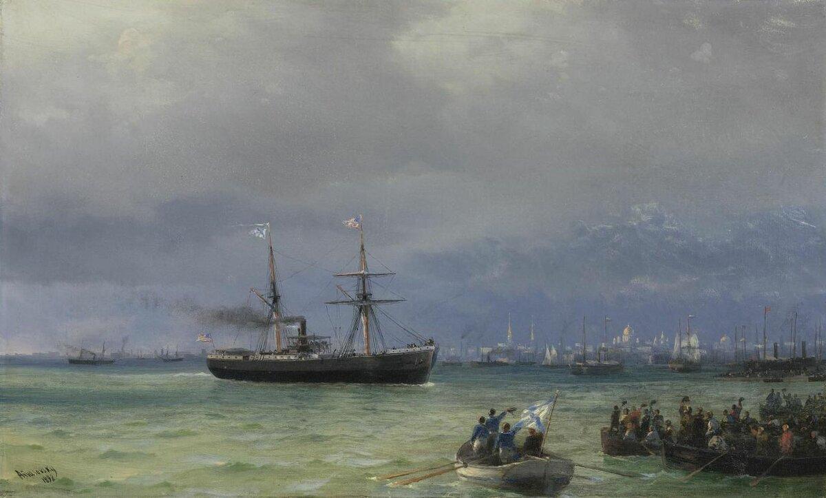 И. К. Айвазовский «Корабль помощи», 1892 год