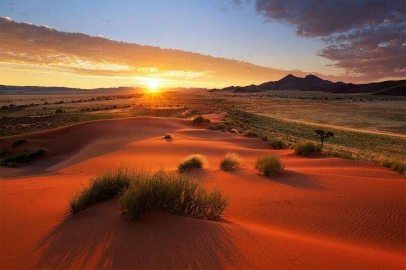 Да, пустыня тоже может быть красивой.  Фантастические пейзажи Намибии