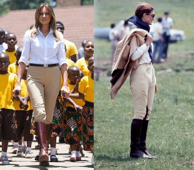 5 образов Мелании Трамп, вдохновленные стилем Жаклин Кеннеди Жаклин Кеннеди,знаменитости,Мелания Трамп,мода и красота,первые леди,стиль