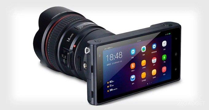Новая беззеркалка на Android подружилась с объективами Canon