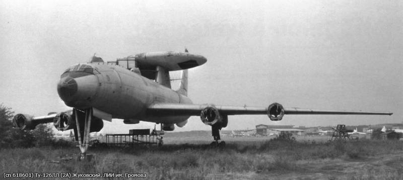 Ту-126. Первый отечественный самолёт ДРЛО ввс