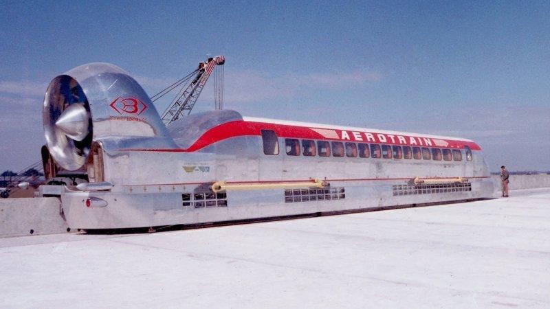 Гибрид поезда с реактивным двигателем и на воздушной подушке вагоны, железнодорожные, изобретения, поезда, рельсы, факты, фантазии