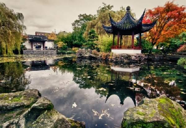 ландшафтный дизайн в китайском стиле, фото 27