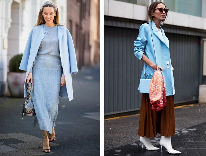 Голубой оттенок синего в одежде фото