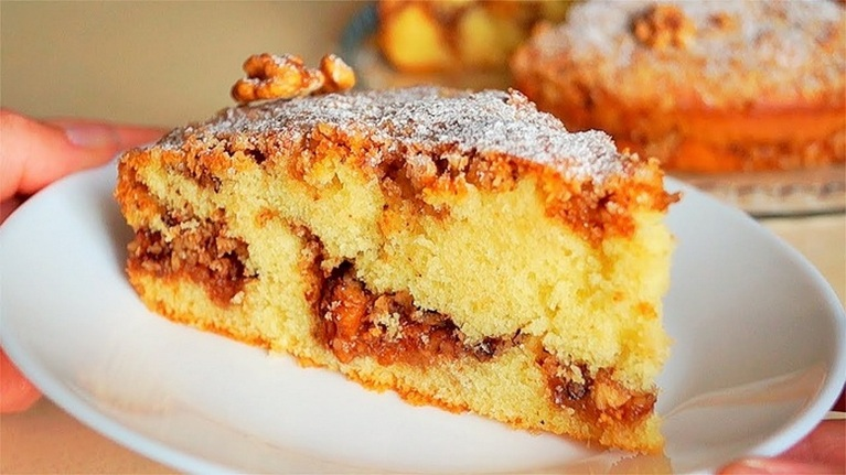 ОРЕХОВЫЙ ВКУСНЫЙ пирог: просто и быстро
