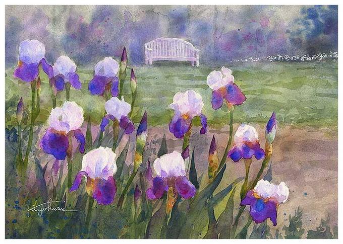 Наш мир озаряют цветы... Японский художник Kiyoharu Narazaki