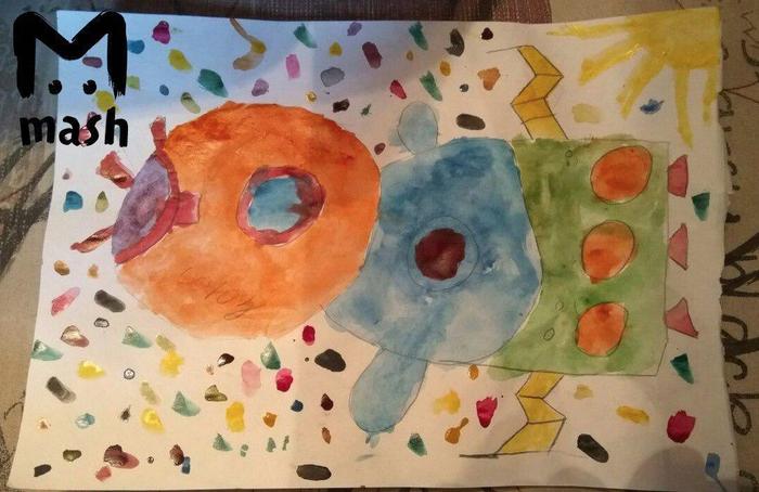 Роскосмос ответил родителям мальчика, рисунок которого не приняли в школе космос, роскосмос, школа, рисование, длиннопост, рисунок
