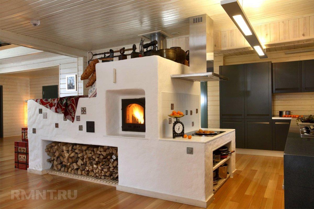 Печное отопление частного дома: за и против