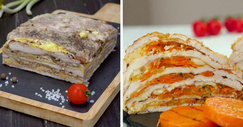 Как приготовить многослойные запеканки из курицы блюда из курицы,запеканки,кулинария,мясные блюда