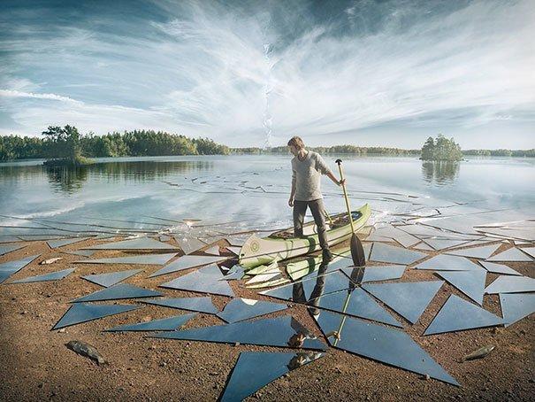 21. Зеркальное озеро за кадром, кадры, неожиданно, постановка, постановочные фото, секреты, фото, фотограф