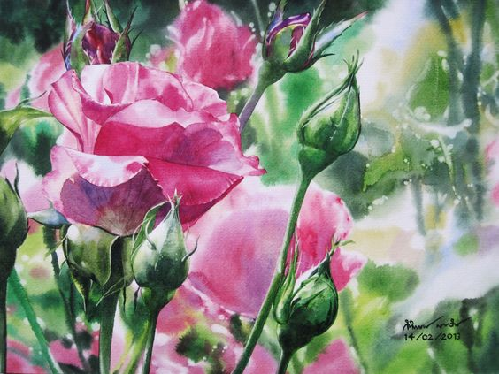 Roses painting: