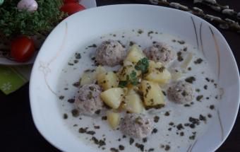 Суп с хреном и фрикадельками