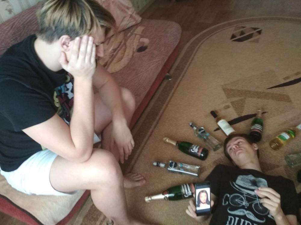 Алине молодежная пьянка видео