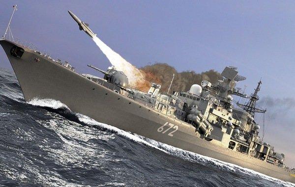 Россия: боевые корабли РФ, вышли на охоту