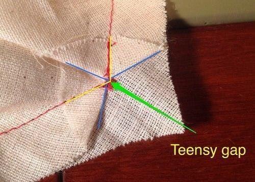 Оформление точки соединения трех швов одежда,рукоделие,своими руками