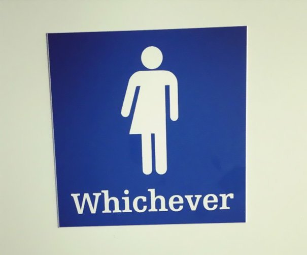 5. Надеемся, что этот знак стоит у туалета на одного человека в мире, креатив, туалет, туалетный знак, юмор