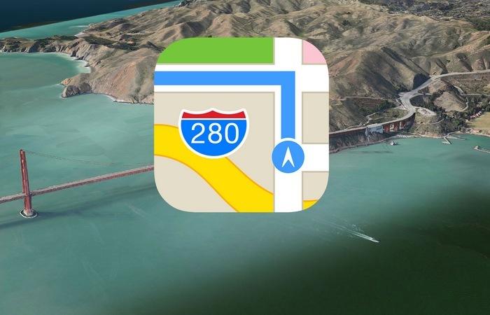 Приложение Apple Maps.