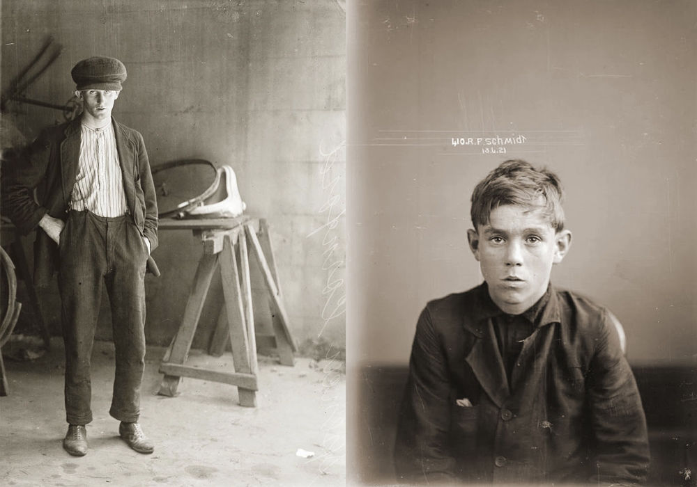 Портреты преступников 1920-х годов общество,портрет,преступность,США